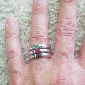 Jewelry - Set of 3 sterling silver rings